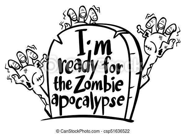 English Expression For Ready For Zombie Apocalypse Illustration