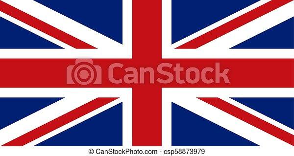 English flag, flat layout, vector illustration - csp58873979