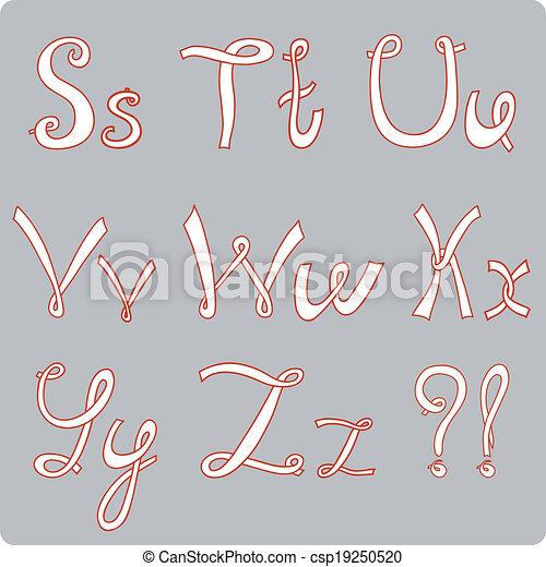 English hand-written alphabet - csp19250520