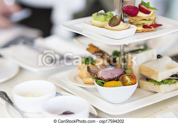 English high tea set - csp17594202