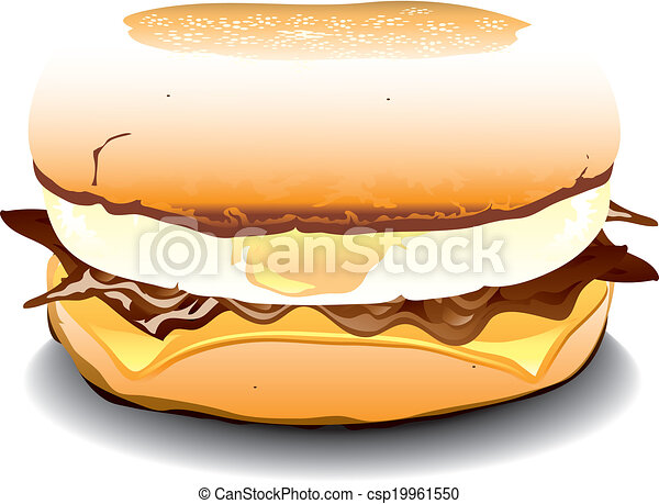 Ham Egg And Cheese Sandwich Clip Art Free Vector And Clipart Ideas
