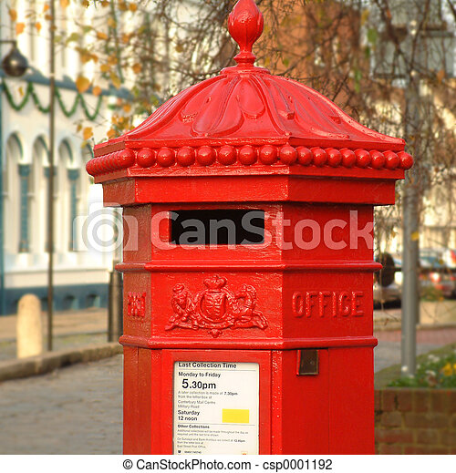 English Pillar Box - csp0001192