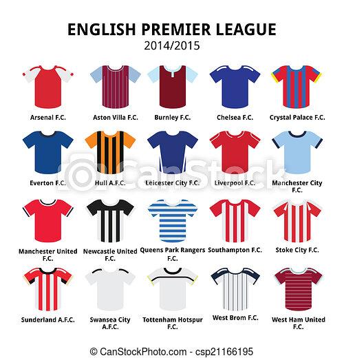 e39283c6072 English premier league 2014 - 2015 . Vecotor icons set of sport ...