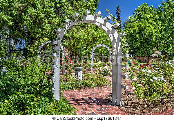 English Rose Garden - csp17661347