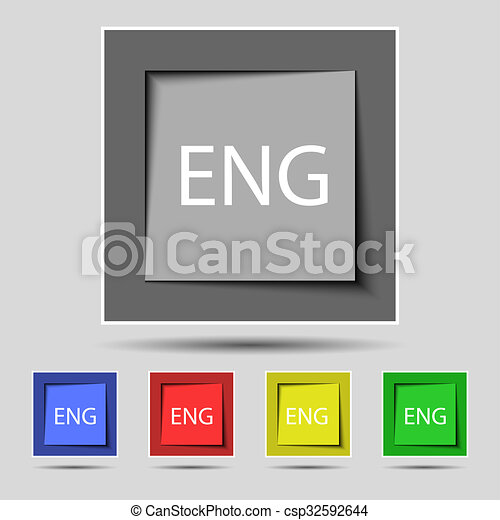 english sign icon great britain symbol set of colored drawing