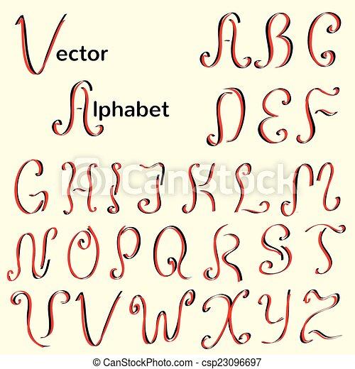 English Vintage Calligraphic Alphabet
