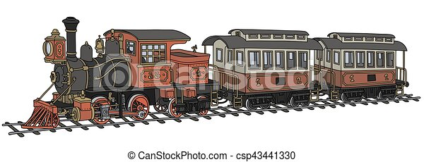 engraçado, americano, trem, vapor, clássicas - csp43441330