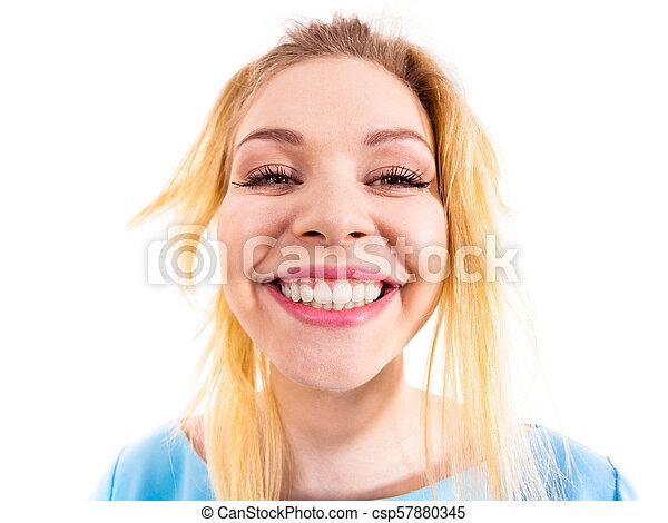 engraçado, bizarro, mulher, cima fim - csp57880345