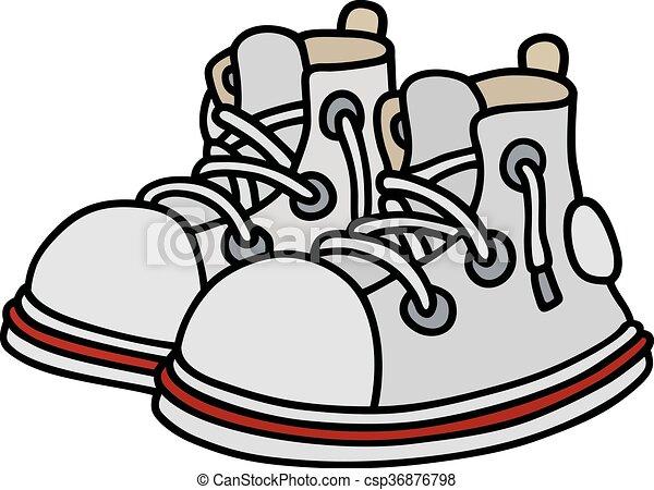 engraçado, branca, sneakers - csp36876798