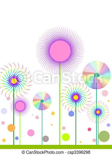 engraçado, flores - csp3396298