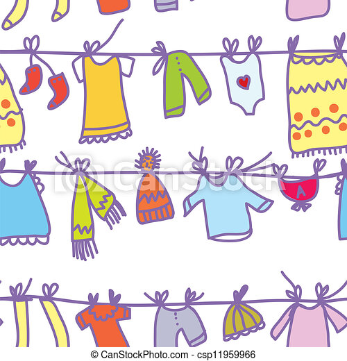engraçado, jogo, padrão, -, seamless, desenho, roupas bebê - csp11959966