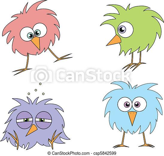 engraçado, pássaros - csp5842599