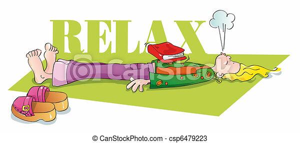 engraçado, respirar, iogue, relaxante - csp6479223