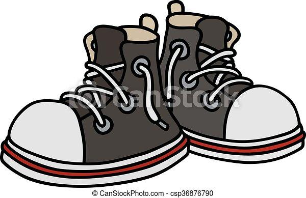 engraçado, sneakers, pretas - csp36876790