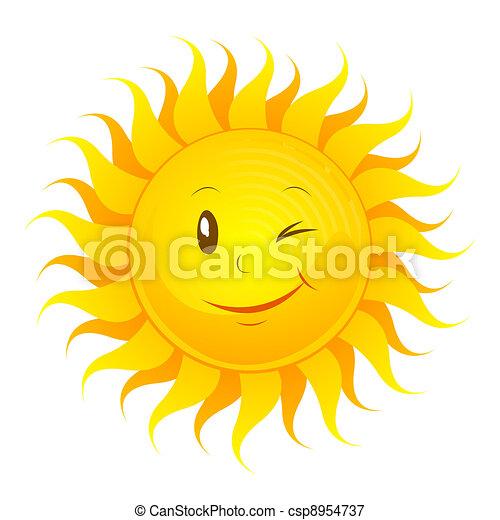 engraçado, sol - csp8954737
