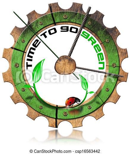 Hora de ponerse verdes, equipo de madera - csp16563442