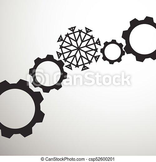 Mecanismo de marcha con copos de nieve - csp52600201