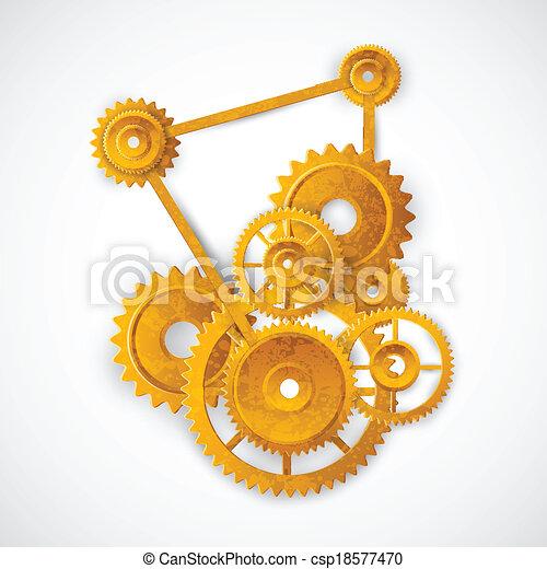 Mecanismo de marcha - csp18577470