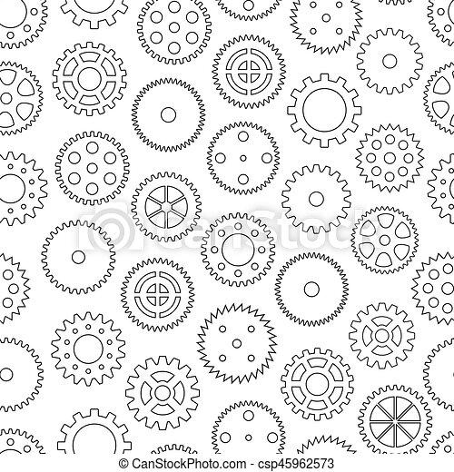 Trasfondo sin daños con ruedas de engranaje, ilustración vectorial - csp45962573