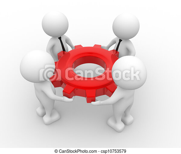 engrenagem, mecanismo - csp10753579
