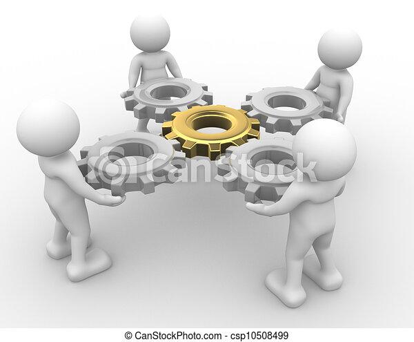 engrenagem, mecanismo - csp10508499