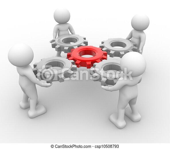 engrenagem, mecanismo - csp10508793