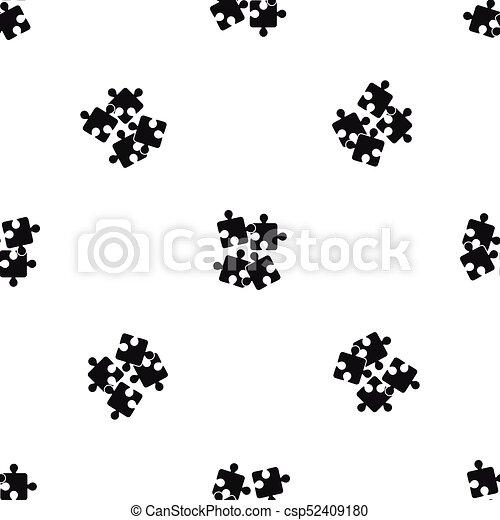 enigmi, modello, jigsaw, nero, seamless - csp52409180