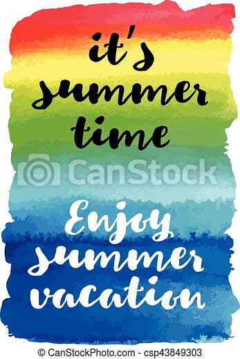 Enjoy Summer Vacation Itu0027s Summer Time Summer Quote Vector Poster