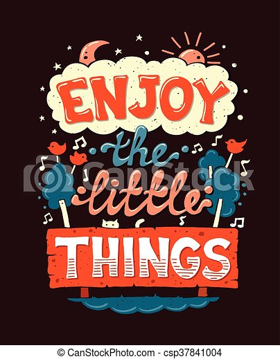 Enjoy Little Things Motivation Postereck 0756 Poster Leinwand Vintage Plakat