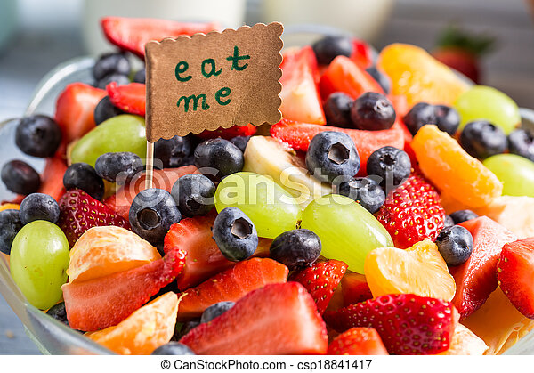 Enjoy your fruit salad - csp18841417
