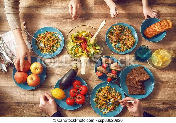 Enjoying family dinner - csp33620926