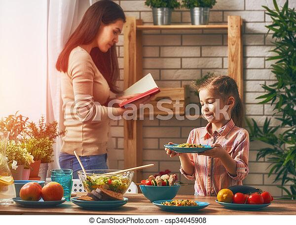 Enjoying family dinner - csp34045908