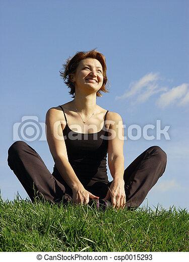Enjoying life - csp0015293