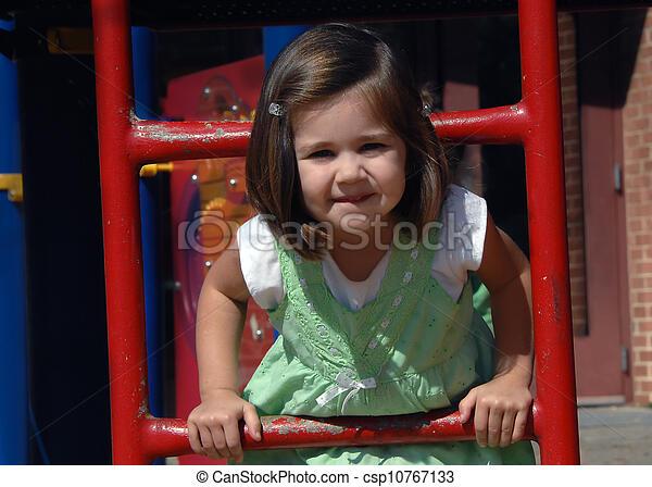Enjoying School Recess - csp10767133