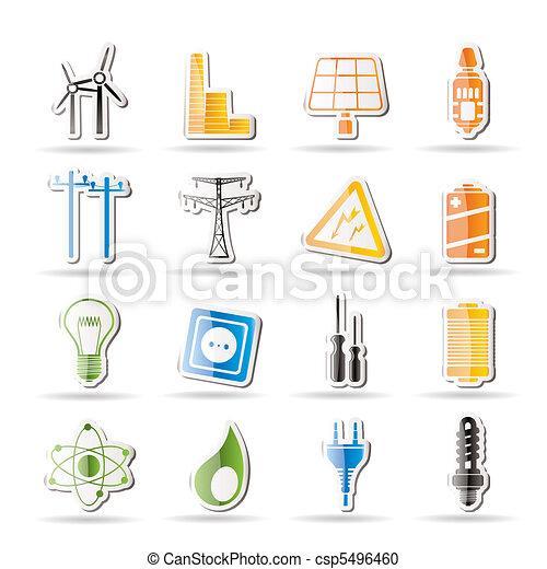 enkel, el, energi, magt - csp5496460