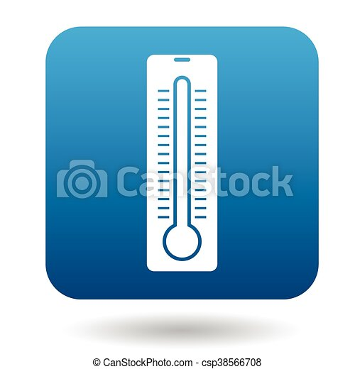 enkel, stil, termometer, ikon