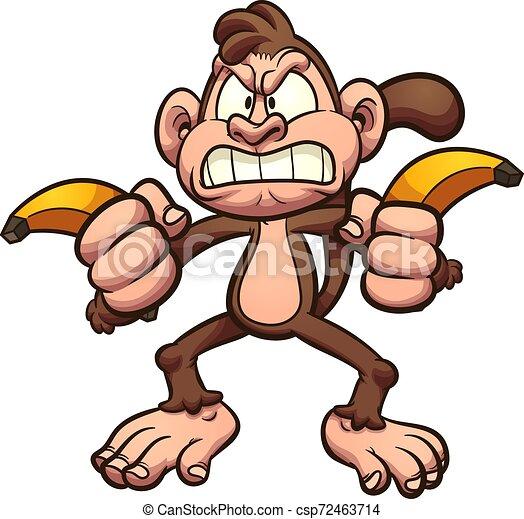 Bananas de mono enojado - csp72463714