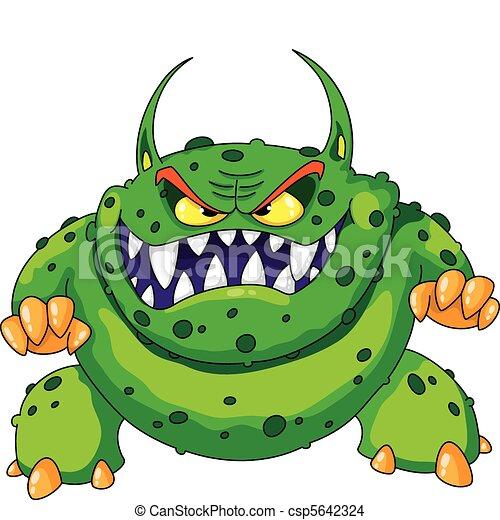 enojado, monstruo verde - csp5642324