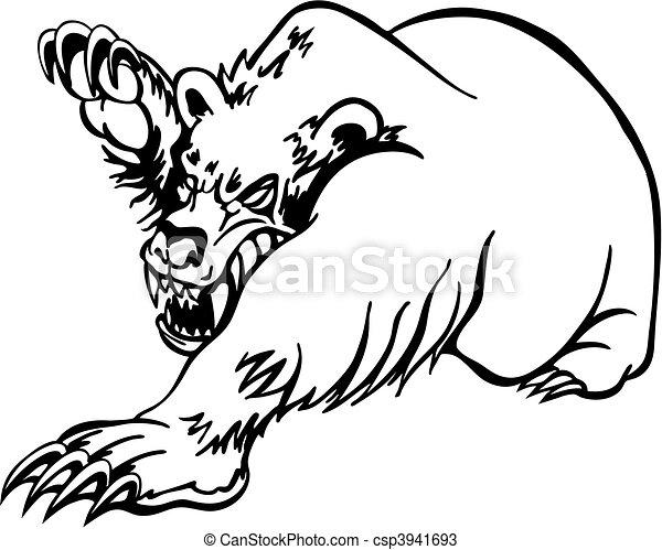 Oso enojado - csp3941693