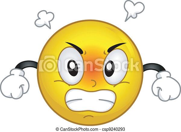 Una sonrisa enfadada - csp9240293