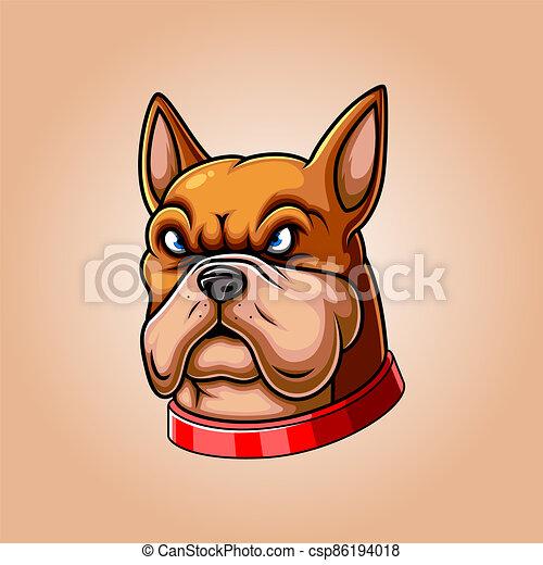 enojado, toro, hoyo, cabeza, mascota - csp86194018