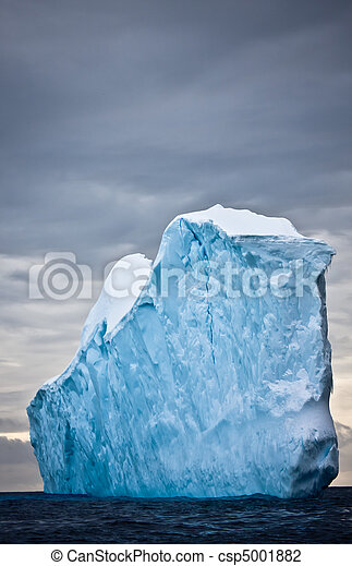 enorme, antártica, iceberg - csp5001882