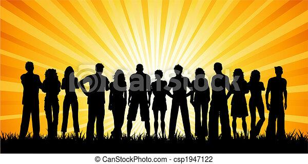enorme, grupo, pessoas - csp1947122
