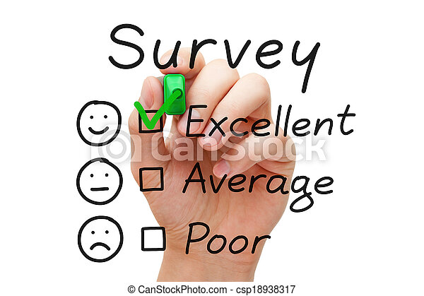 enquête, évaluation, excellent - csp18938317