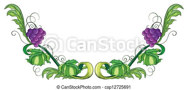 Una vid de uva - csp12725691
