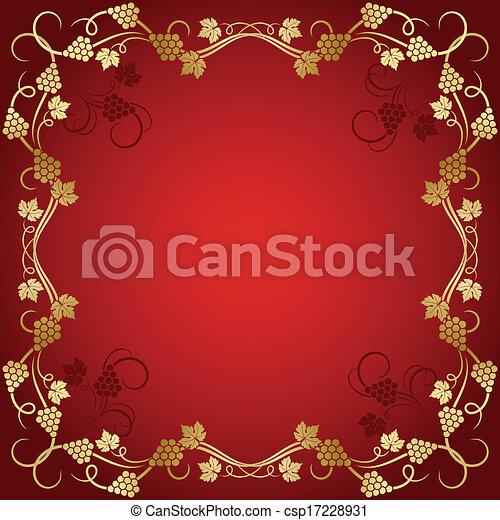 Trasfondo de vid de uva - csp17228931