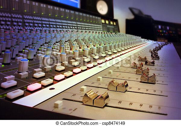 enregistrement, mélange, studio, console - csp8474149