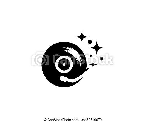 enregistrement, musique, vinyle, icône - csp62719070