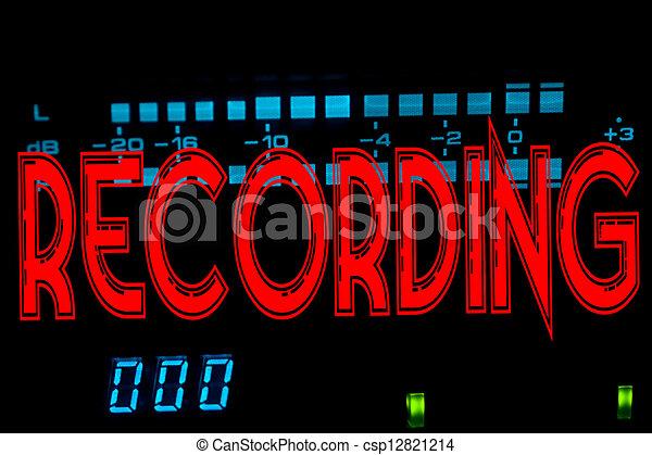 enregistrement, signe - csp12821214