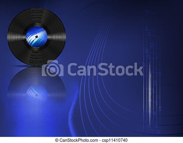 enregistrement, vinyle - csp11410740